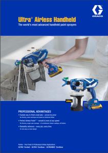 Graco Ultra Airless Handheld Sprayer Brochure - ProQuip